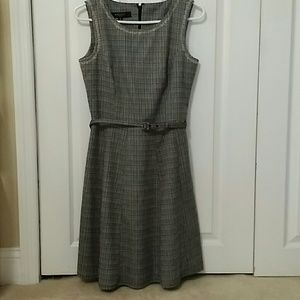Skater Skirt Linen Look Dress
